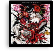 bleeding heart geisha Canvas Print