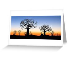 Boab Silhouettes (Panorama) Greeting Card