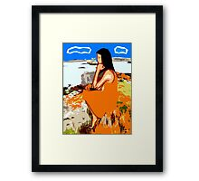 PIPER BY THE CASTLE Framed Print