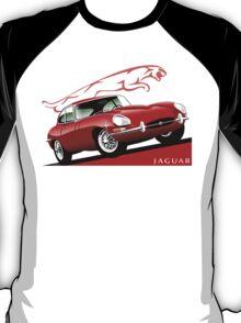 E-Type Jaguar Series 1 Coupe red T-Shirt
