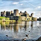 Caerphilly Castle 4 by Brian Beckett