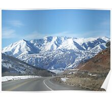 Snow Capped Mountians of Utah Poster