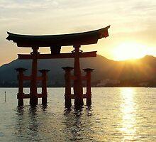 Sunset at Miyajima by Totosan