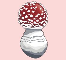 Spotted Mushroom, Toadstool, Stem - Red Kids Clothes