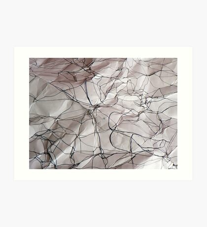 the creases revealed 3 Art Print