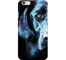 Black Labrador Retriever Dog Art - Hunter iPhone Case/Skin