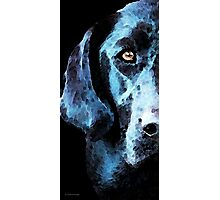 Black Labrador Retriever Dog Art - Hunter Photographic Print