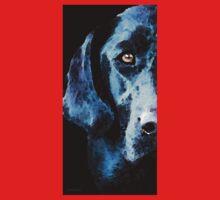 Black Labrador Retriever Dog Art - Hunter Kids Tee