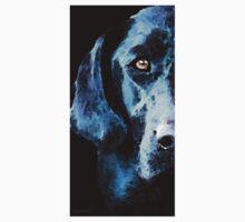 Black Labrador Retriever Dog Art - Hunter One Piece - Short Sleeve