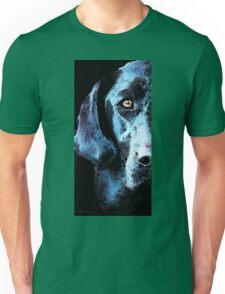 Black Labrador Retriever Dog Art - Hunter Unisex T-Shirt