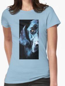 Black Labrador Retriever Dog Art - Hunter Womens Fitted T-Shirt