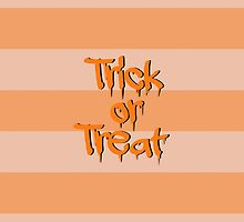 Halloween, Stripes, Trick or Treat - Black Orange  by sitnica