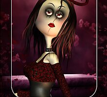 Rag Doll Goth Any Occasion Greeting Card by Moonlake