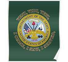 US Army VVV Shield Poster