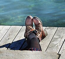 Enjoying A Sunny Day On Lake Geneva by Alexandra Lavizzari