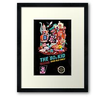 THE 80s KID Framed Print