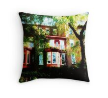 Brooklyn Townhouses Throw Pillow