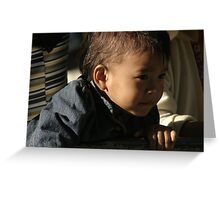 young boy. northern india Greeting Card