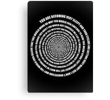 Spiral of deception - poster Canvas Print