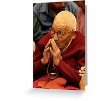 tibetan nun. northern india Greeting Card