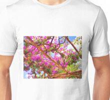Positano's Purple Bougainvillaes Trellis Unisex T-Shirt