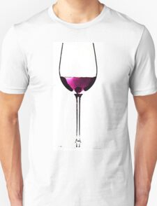 Abstract Red Wine Glass 2 T-Shirt