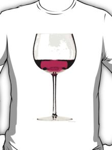 Abstract Red Wine Glass 1 T-Shirt