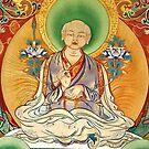 sakya patriach. tibetan painting by tim buckley | bodhiimages