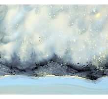 Cloudy Stars On Silver Mountain Photographic Print