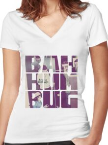 Bah Humbug Women's Fitted V-Neck T-Shirt