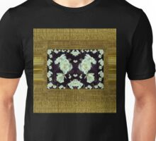 Cool roses in a gold landscape Unisex T-Shirt