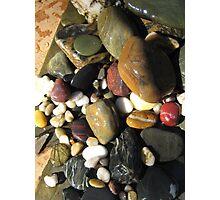 Myriad of Coloured Stones. Photographic Print