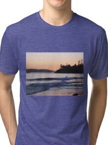 Beautiful Beach Sunset Tri-blend T-Shirt
