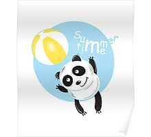 Summer panda. Poster