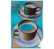Abstract cup of coffee Poster