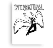 Supernatural Thrusting Angel Canvas Print
