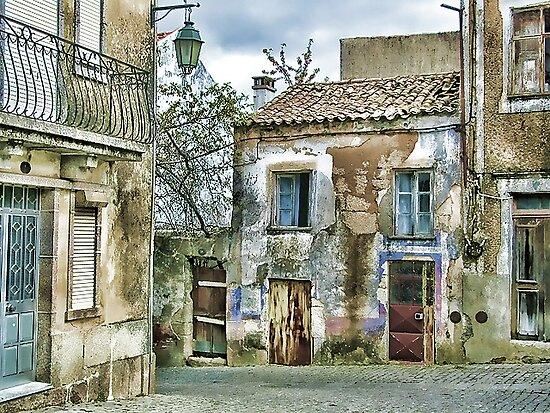 A Quiet Village Street -- Guimares,  Portugal by T.J. Martin