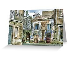 A Quiet Village Street -- Guimares,  Portugal Greeting Card