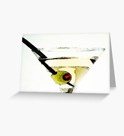 Martini With Green Olive Greeting Card