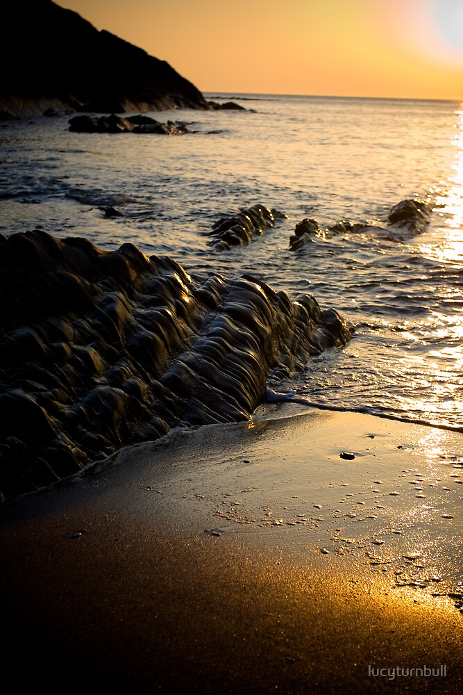 golden sands, Cornwall by lucyturnbull