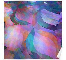 Translucent soft coloured fractal abstract  Poster
