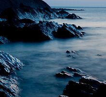 Crackington Haven sunset, Cornwall by lucyturnbull