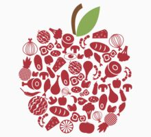 Apple Food Kids Clothes