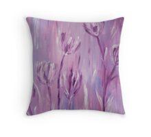 Impressionist Tulips Throw Pillow
