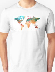 Map of The World 7 -Colorful Abstract Art T-Shirt