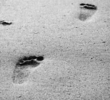 footprints in the sands by lucyturnbull