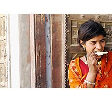 ice cold in Rajasthan Photographic Print