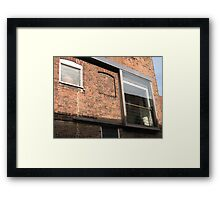 Windows old and New Framed Print