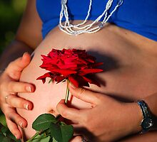 Mother and the Red Rose by CarmenLygia