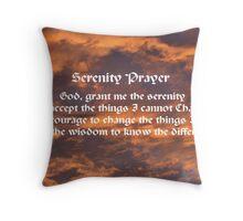 Morning Sky Serenity Prayer Throw Pillow